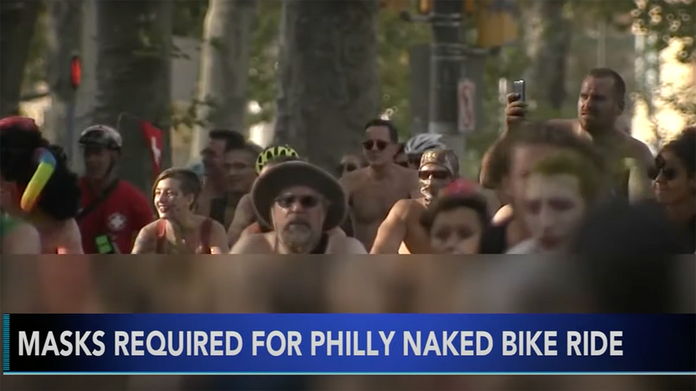 Naked Bike Ride Says Take Off All Your Clothes in Public ... Except Your Mask