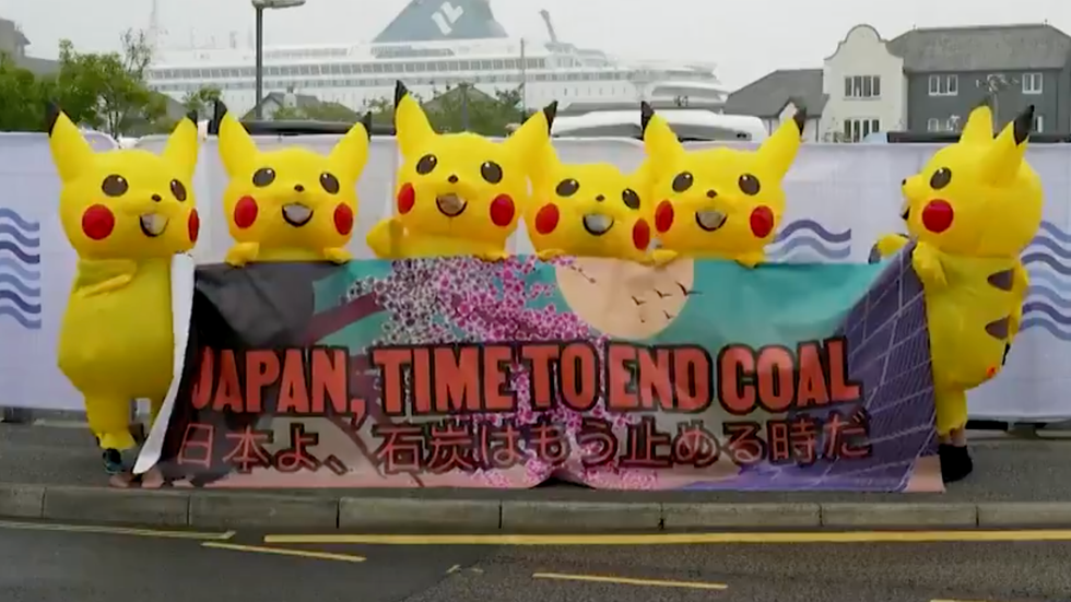 Enjoy This Pikachu Army Protesting Coal Because Liberals are Super Serious About Our Climate