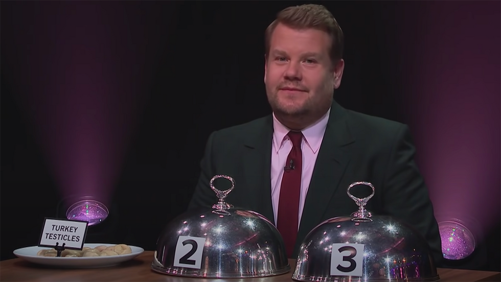 TikTok User Wants to Cancel James Corden for Making Fun of Asian Food. No, Really.